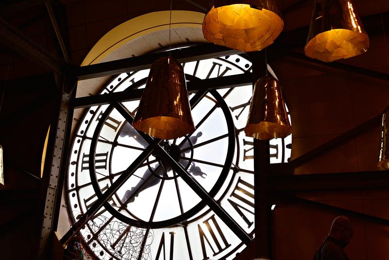 relógio do café do Musée Orsay em Paris