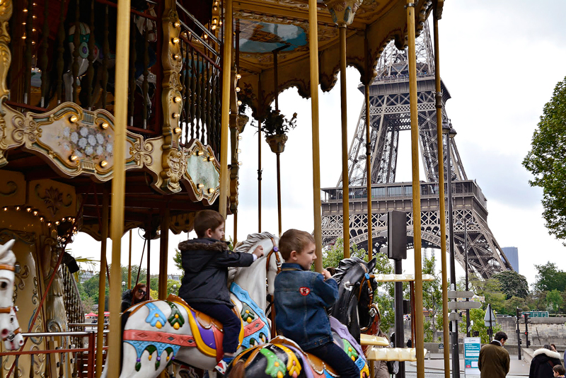 carroussel du Trocadéro em tour eiffel
