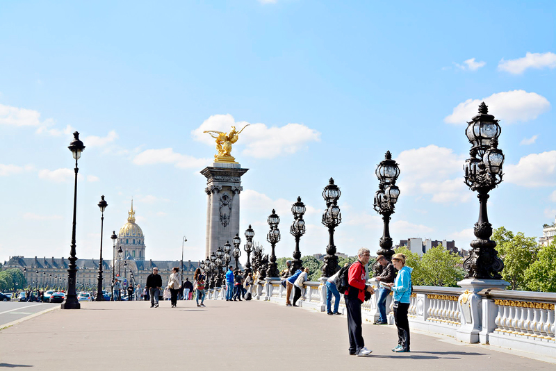 Pont Alexander III em Paris