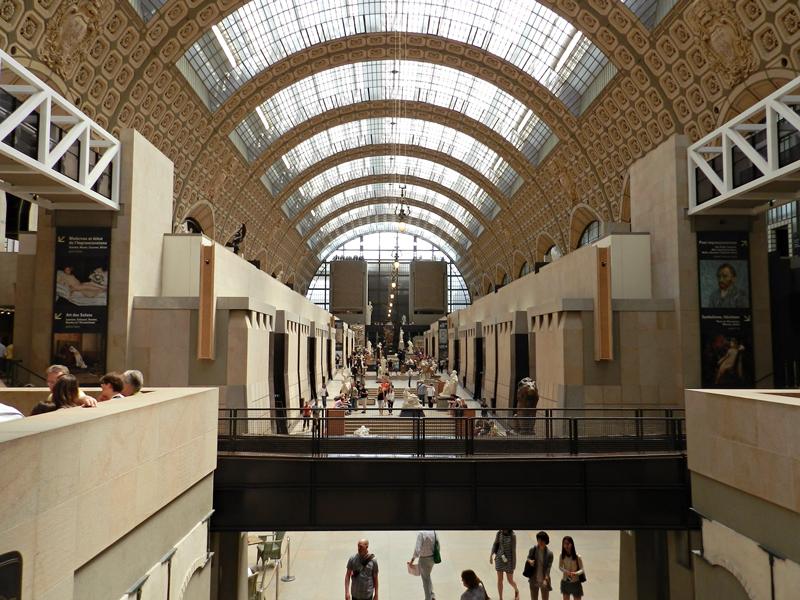 Visão geral do Musée Orsay em Paris