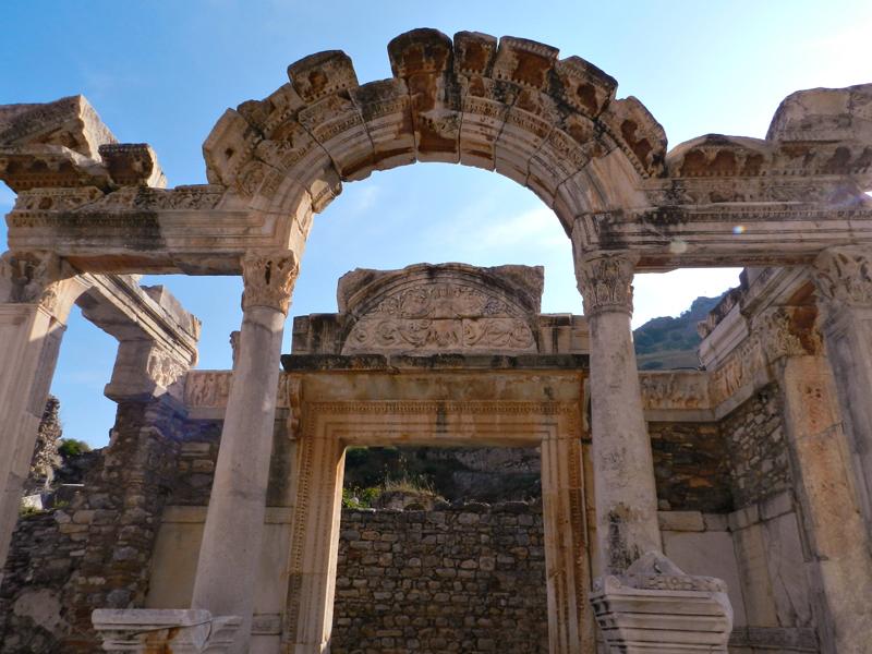 Templo de Adriano no Sítio Arqueológico de Ephesus na Turquia