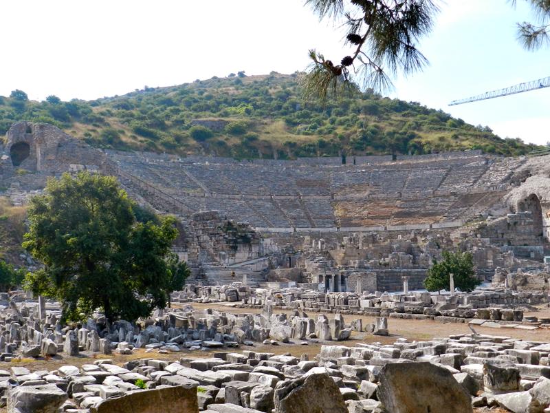 Teatro do Sítio Arqueológico de Ephesus na Turquia