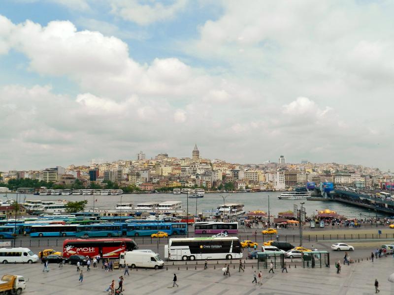 vista para a torre Galata a partir do Hamdi Restaurant