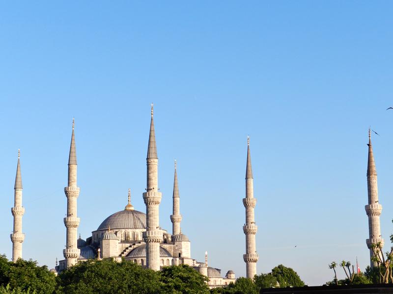 Mesquita Azul ou Sultan Ahmet Camii Istambul lado histórico