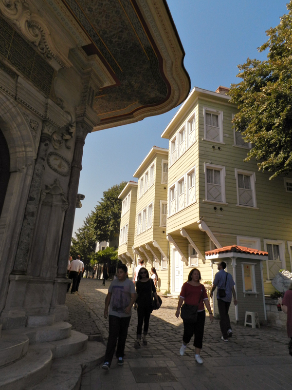 Casas otomanas na Soğukçeşme Sokağı em Istambul
