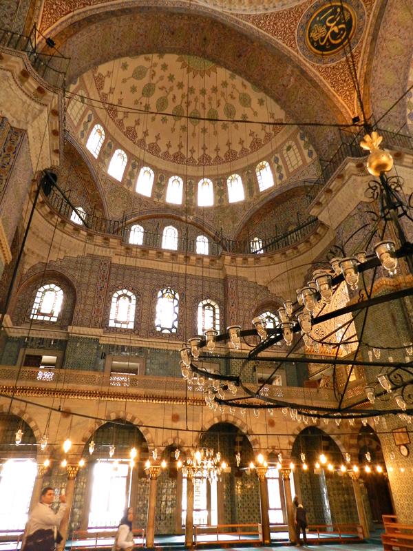 Yeni Camii a Mesquita Nova Istambul lado histórico