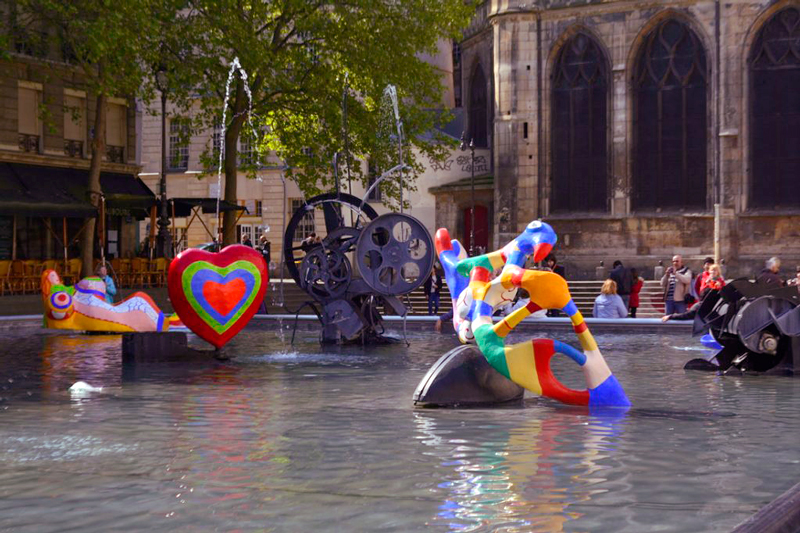 La Fontaine Stravinsky em Paris na France