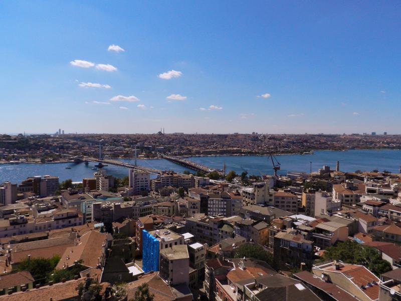 Vista de Istambul a partir da Galata Kulesi a Torre Galata