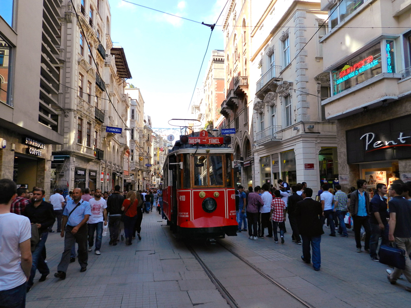 Istiklal Caddesi em Istambul