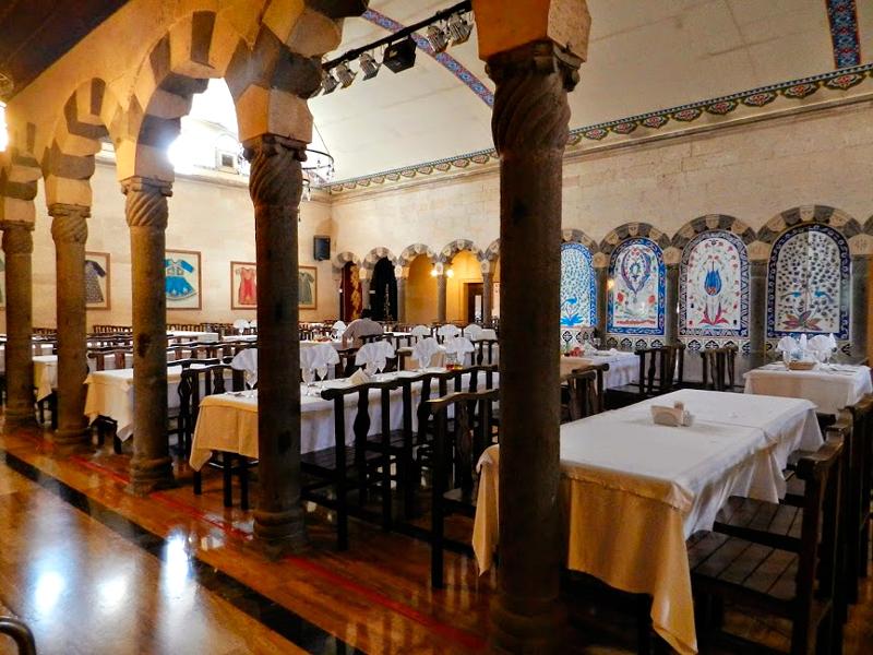 Restaurante na Capadocia na Turquia