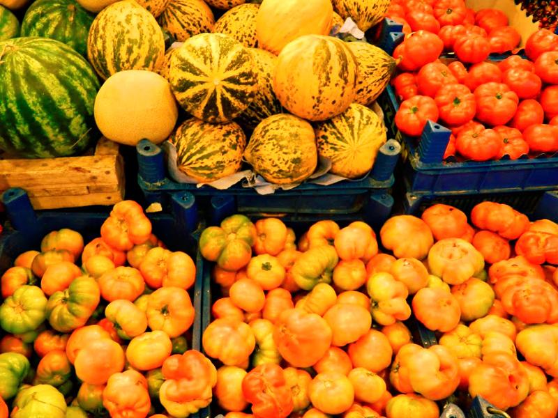 frutas e legumes da cidade de Ürgup na Capadocia