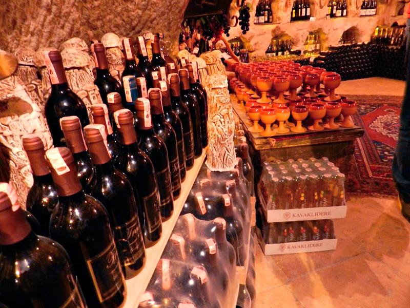 Vinhos da cidade de Ürgup na Capadocia