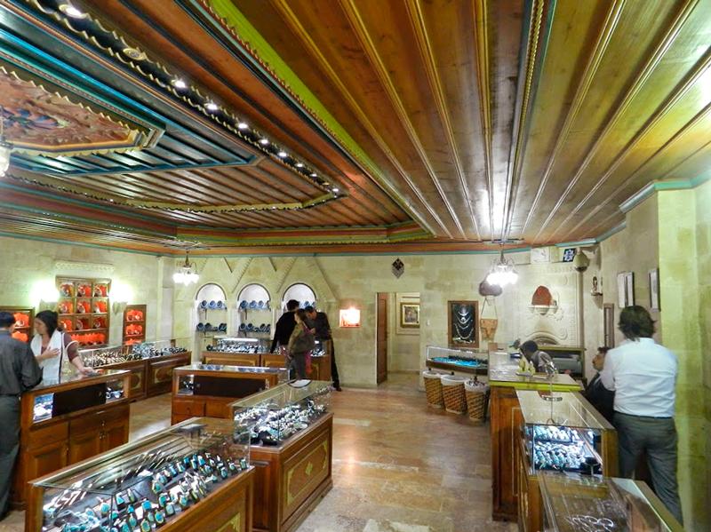 loja de jóias e semi jóias na Capadocia