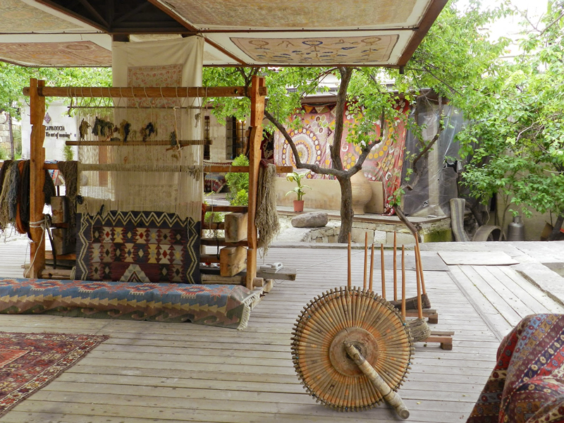 Fábrica de tapetes na Capadócia em Turquia