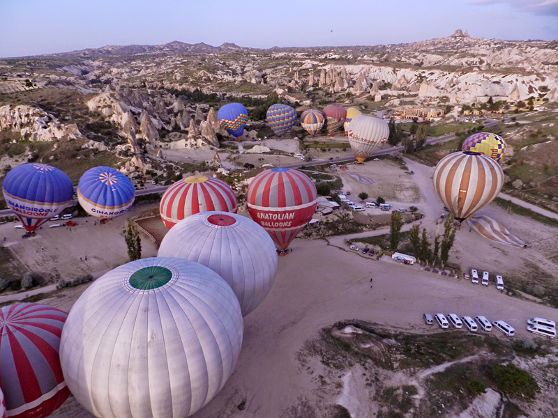 passeio de balão na Capadócia Turquia