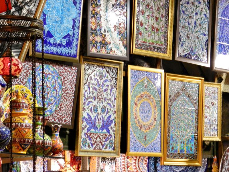 azulejos iznik em Grand Bazar em Istambul