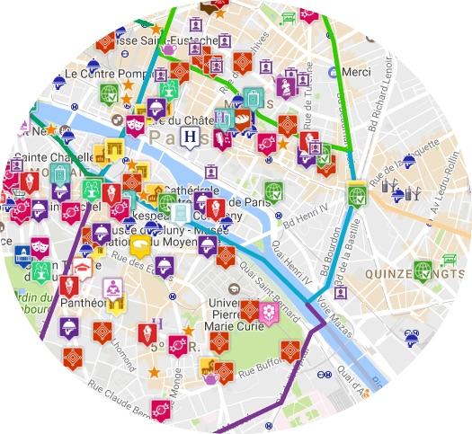 mapa marais