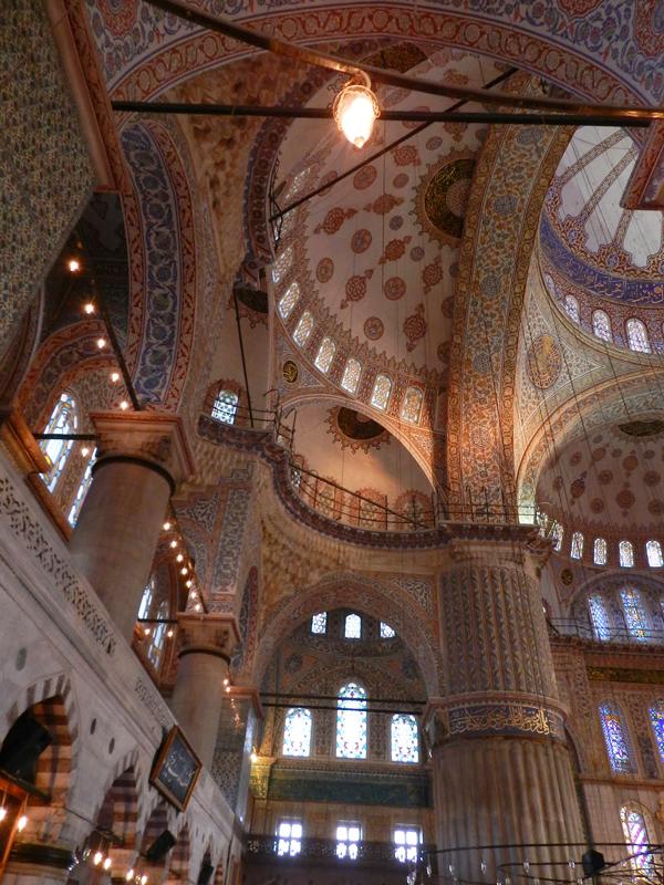 teto da Mesquita Azul em Istambul na Turquia
