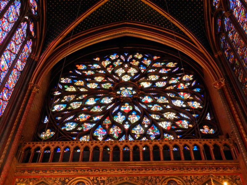 rosãcea da saint chapelle em paris na frança