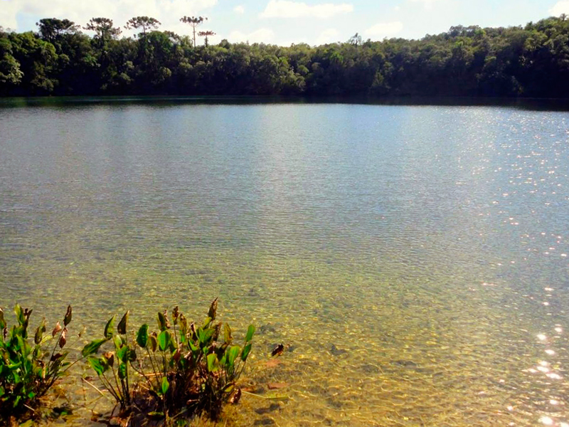 lagoa dourada no Parque Estadual de Vila Velha em ponta grossa