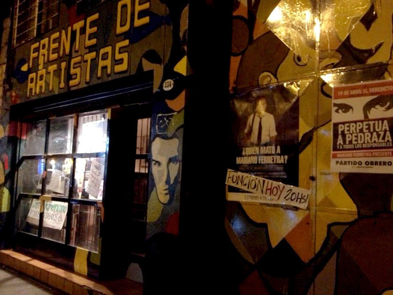 frente de artistas em buenos aires na argentina