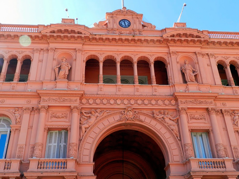 Fachada da Casa Rosada em buenos aires na argentina