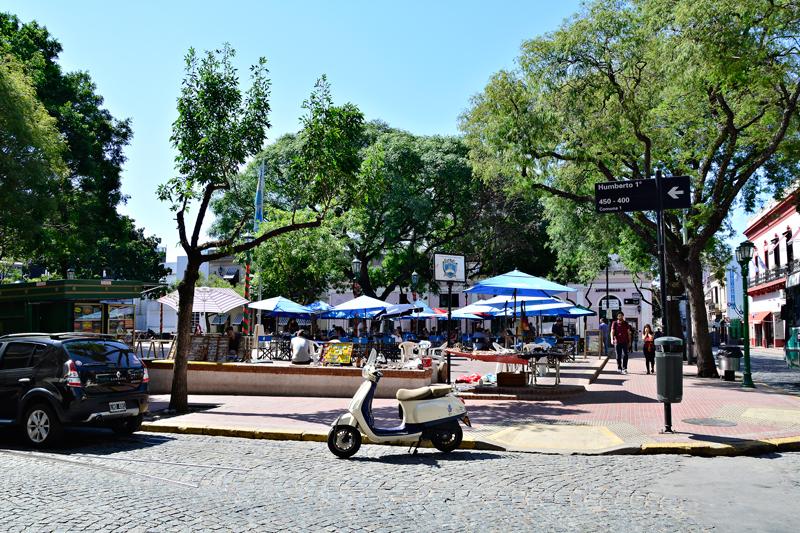 Plaza Dorego, San Telmo, Buenos Aires, Argentina