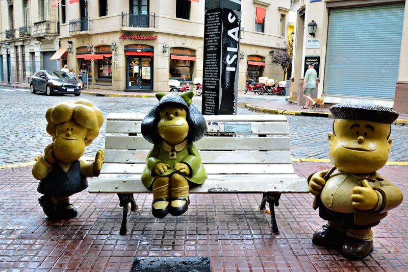 Monumento à Mafalda, San Telmo, Buenos Aires, Argentina