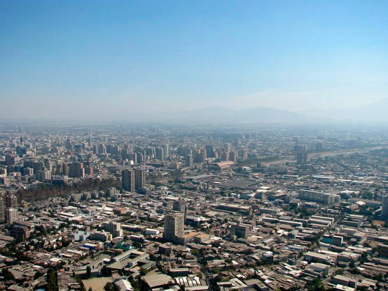 Santiago vista do Cerro San Cristobal em Santiago de Chile