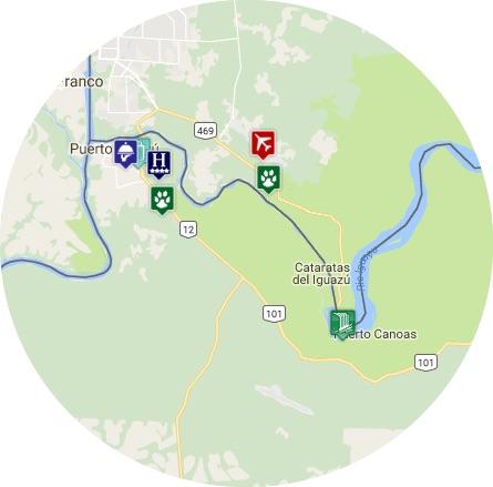 mapa puerto iguazu