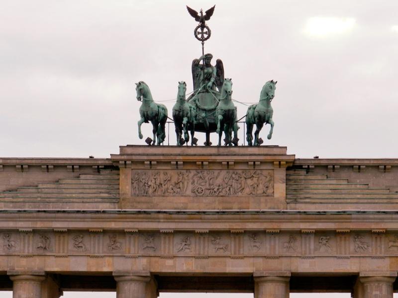 Detalhe da Brandenburger Tor em Berlim