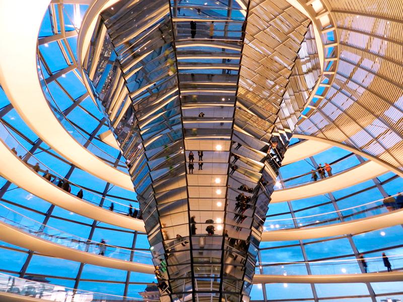 Reichstag o Parlamento alemão em Berlim