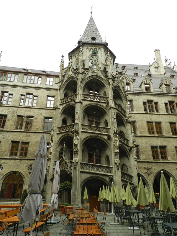 Marienplatz em Munique na Alemanha
