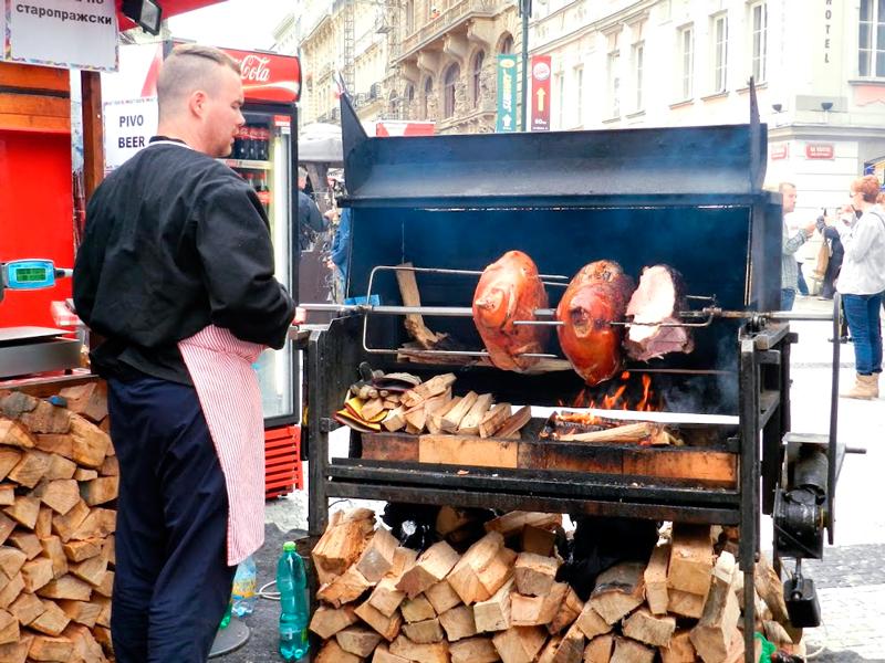 Comida de rua de Praga