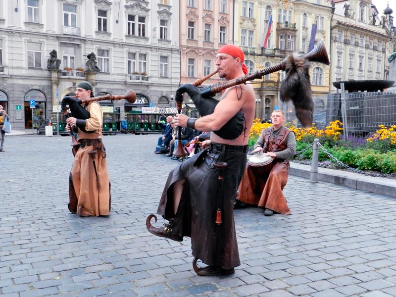 Artistas de rua em Praga