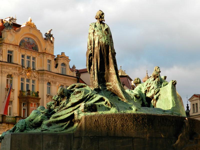 Monumento a Jan Hus Viagem a praga na tchéquia