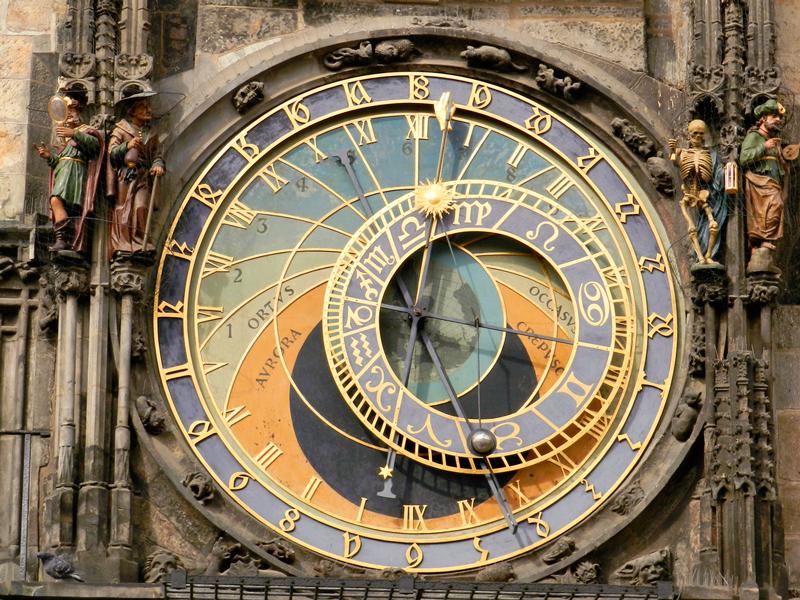 o Orloj da Staroměstská Radnice Viagem a praga na tchéquia