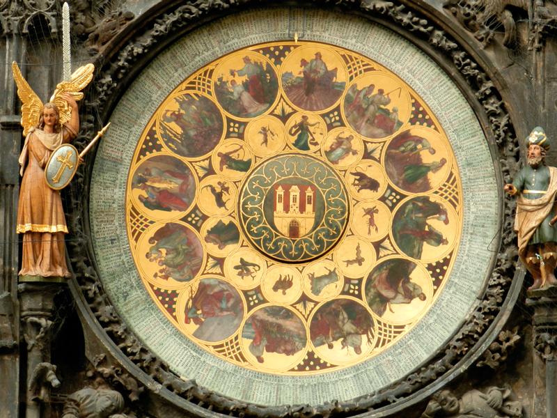 o Orloj da Staroměstská Radnice em Praga