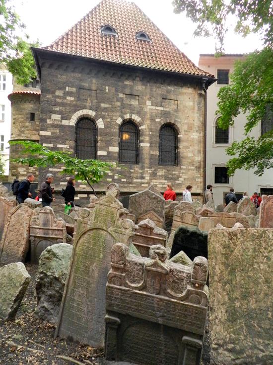 Starý židovský hřbitov da Josefov em Praga