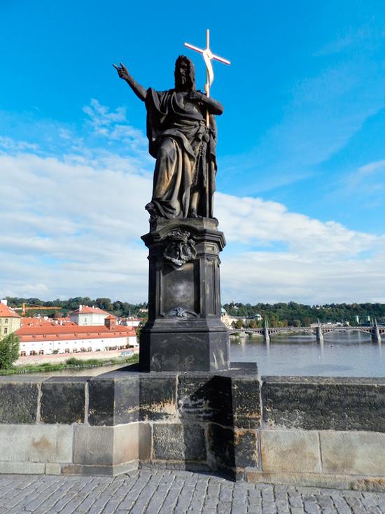 Escultura do São João Batista, 1857 em Praga