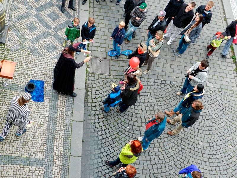 Entretenimento na Kampa em Praga