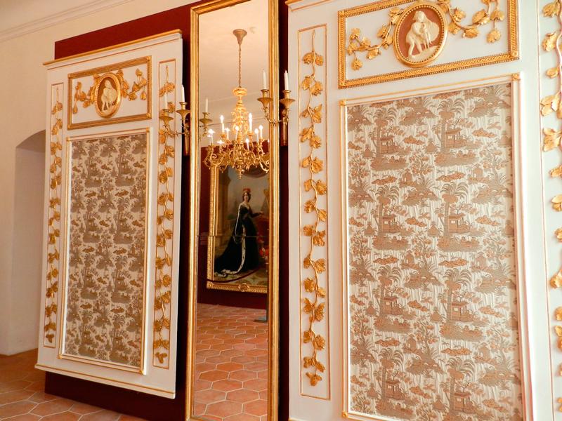 detalhes do Rožmberský Palác, palácio de Praga