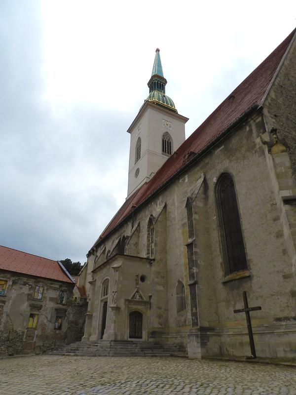 Igreja medieval em Bratislava na Eslováquia