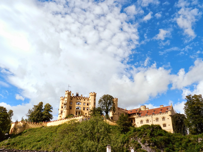 Schloss Hohenschwangau visto de baixo