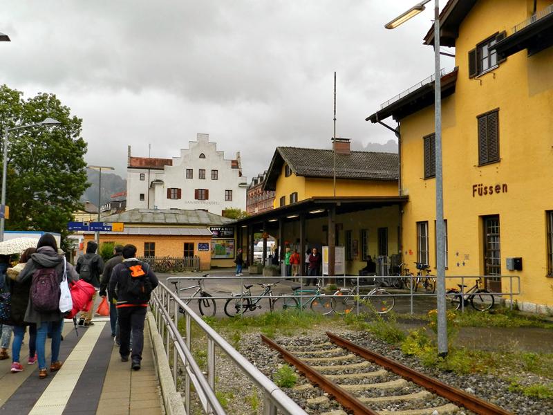 Estação de trem de Füssen na Alemanha