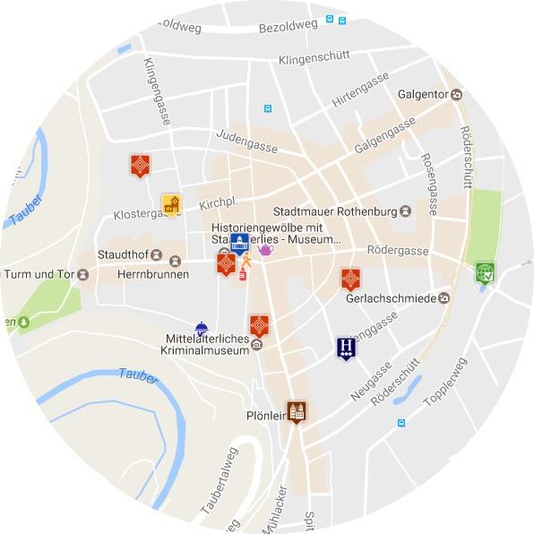 mapa Rothenburg