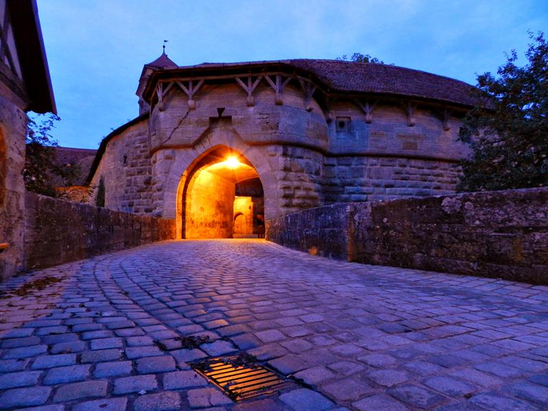 um dos portões de Rothenburg Ob Der Tauber