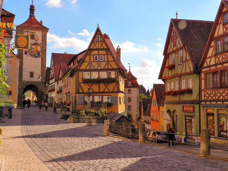 O cartão postal Das Plönlein em Rothenburg Ob Der Tauber