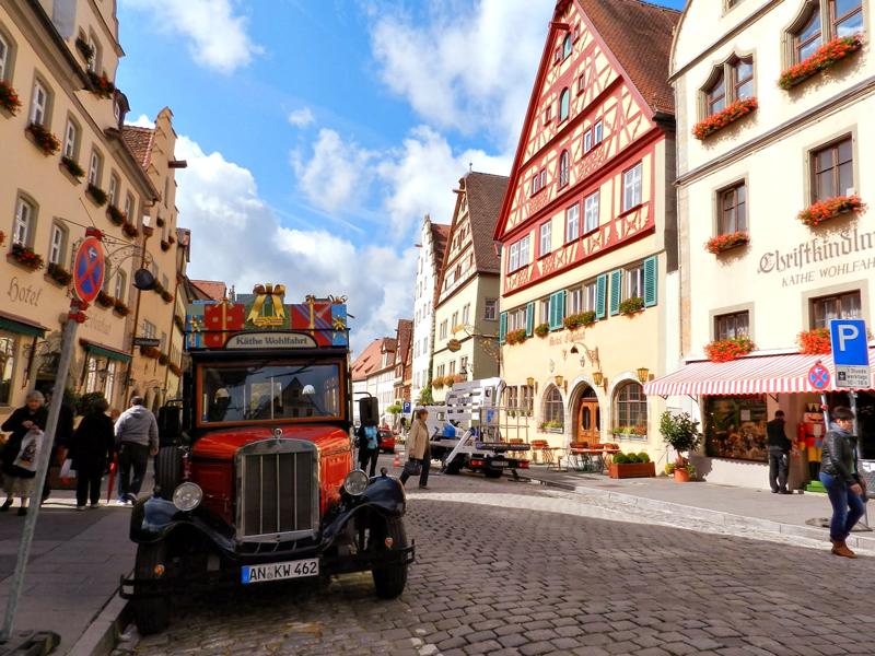 Passeio por Rothenburg Ob Der Tauber na Alemanha