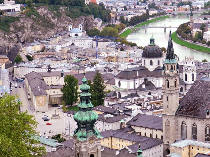 Vista de Salzburg a partir da Festung Hohensalzburg